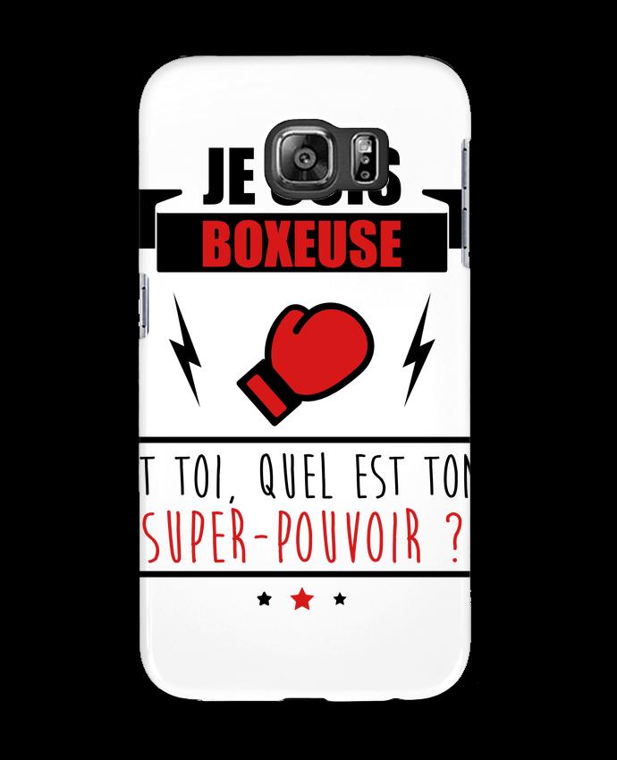 Coque 3D Samsung Galaxy S6 Je suis boxeuse et toi, quel est ton super-pouvoir ? - Benichan