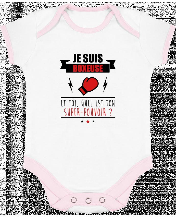 Body Bébé Contrasté Je suis boxeuse et toi, quel est ton super-pouvoir ? par Benichan