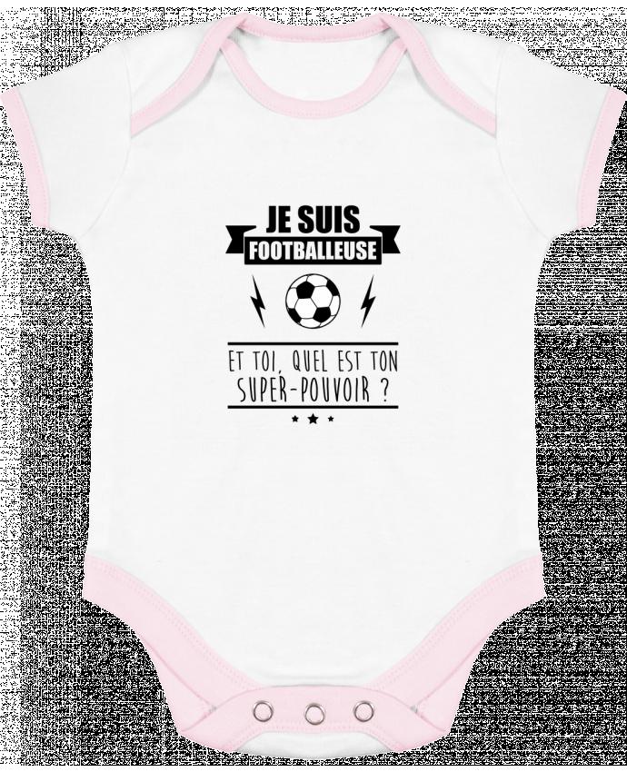 Body Bébé Contrasté Je suis footballeuse et toi, quel est ton super-pouvoir ? par Benichan
