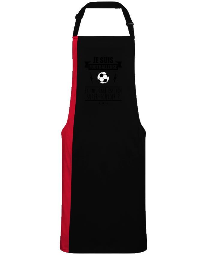 Tablier Long Bicolore Je suis footballeuse et toi, quel est ton super-pouvoir ? par  Benichan