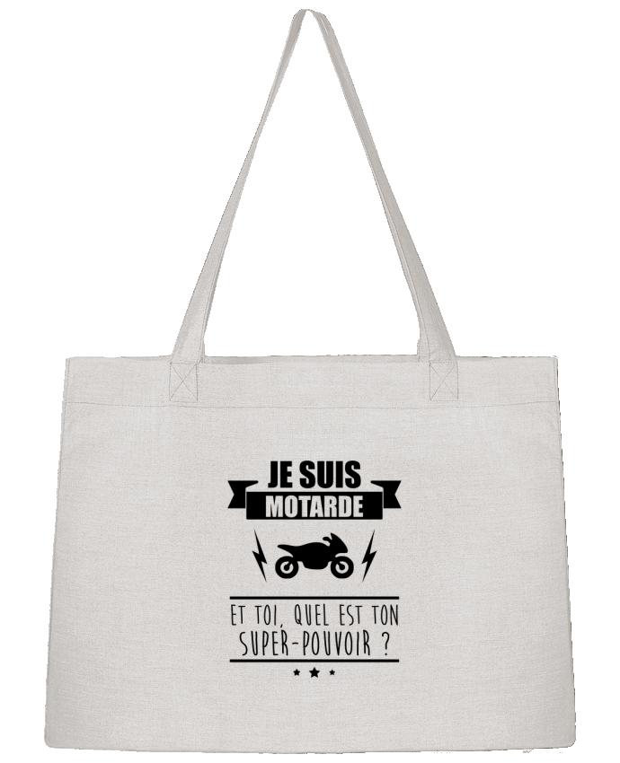 Sac Cabas Shopping Stanley Stella Je suis motarde et toi, quel est ton super-pouvoir ? par Benichan