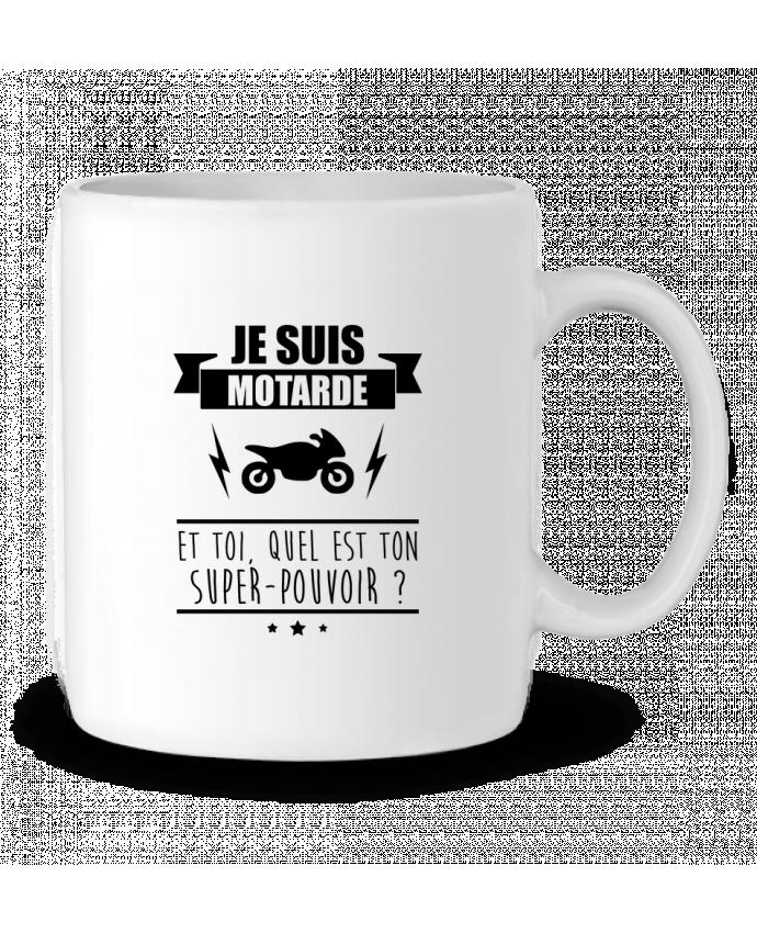 Mug en Céramique Je suis motarde et toi, quel est ton super-pouvoir ? par Benichan