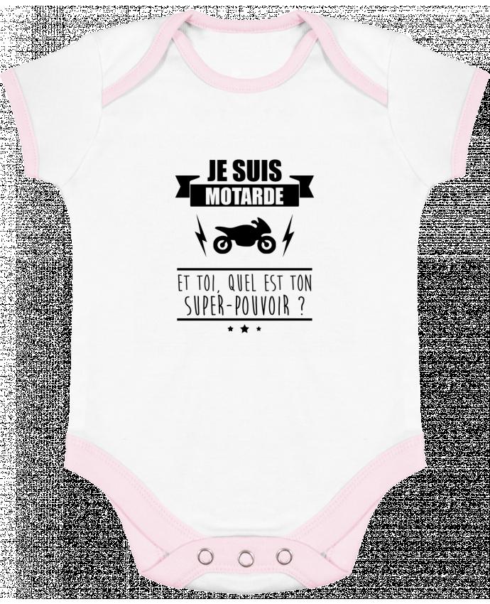 Body Bébé Contrasté Je suis motarde et toi, quel est ton super-pouvoir ? par Benichan