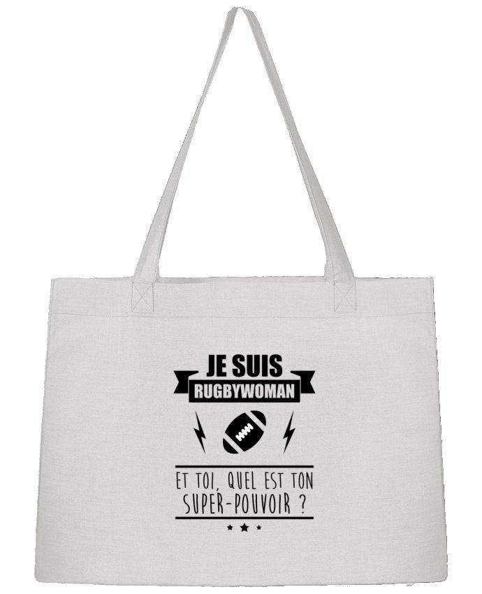 Sac Cabas Shopping Stanley Stella Je suis rugbywoman et toi, quel est ton super-pouvoir ? par Benichan