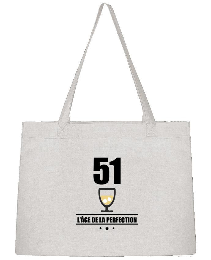 Sac Cabas Shopping Stanley Stella 51 ans, âge de la perfection, pastis, anniversaire par Benichan