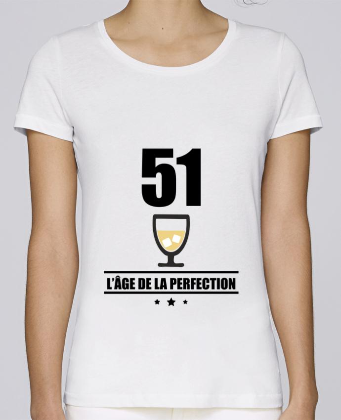 T-shirt Femme Stella Loves 51 ans, âge de la perfection, pastis, anniversaire par Benichan