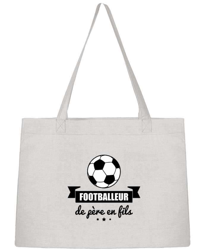 Sac Shopping Footballeur de père en fils, foot, football par Benichan