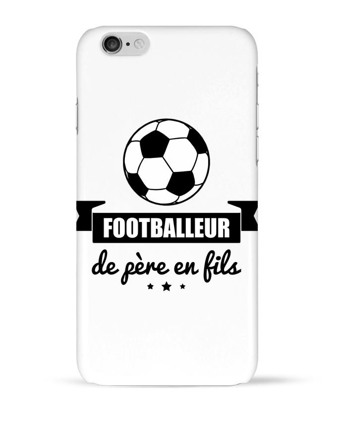 Coque 3D Iphone 6 Footballeur de père en fils, foot, football par Benichan