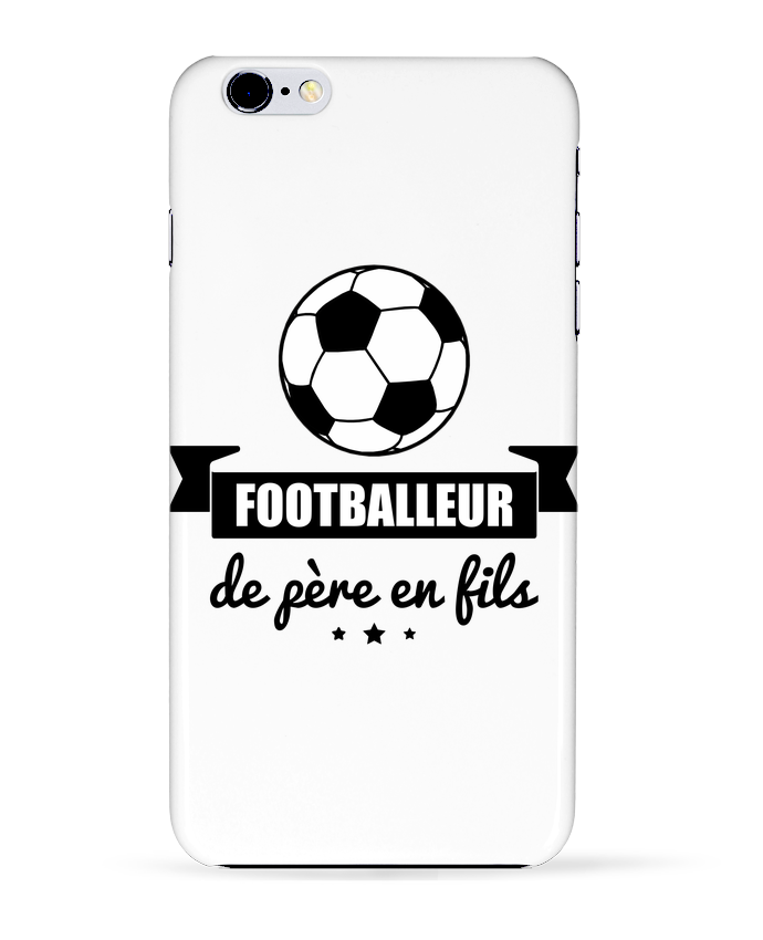 Coque 3D Iphone 6+ Footballeur de père en fils, foot, football de Benichan