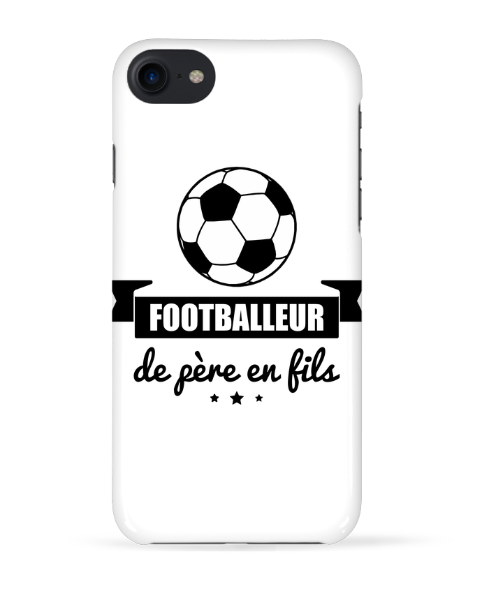 Coque 3D Iphone 7 Footballeur de père en fils, foot, football de Benichan