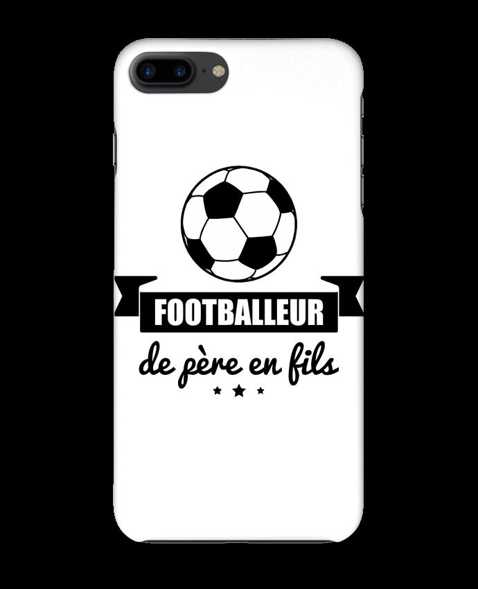 Coque 3D Iphone 7+ Footballeur de père en fils, foot, football par Benichan