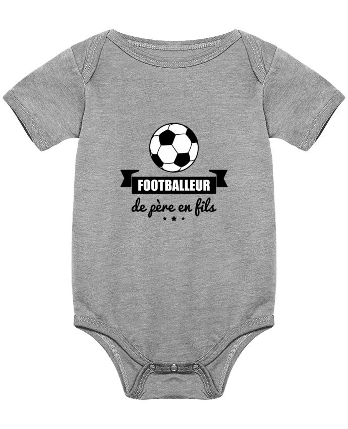 Body Bébé Footballeur de père en fils, foot, football par Benichan