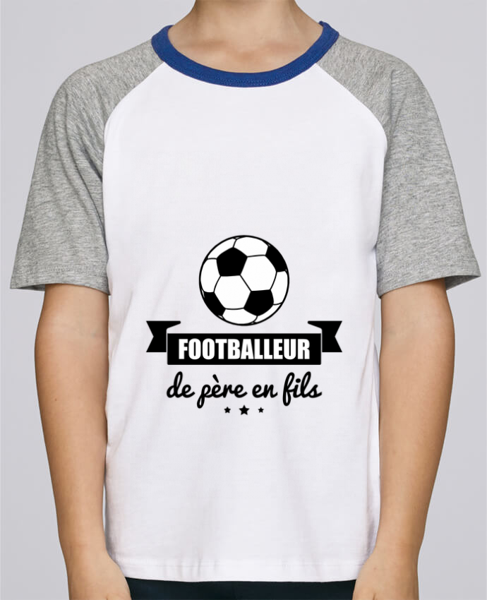 Tee-Shirt Enfant Stanley Mini Jump Short Sleeve Footballeur de père en fils, foot, football par Benichan