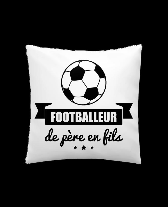 Coussin Synthétique Doux 41 x 41 cm Footballeur de père en fils, foot, football par Benichan