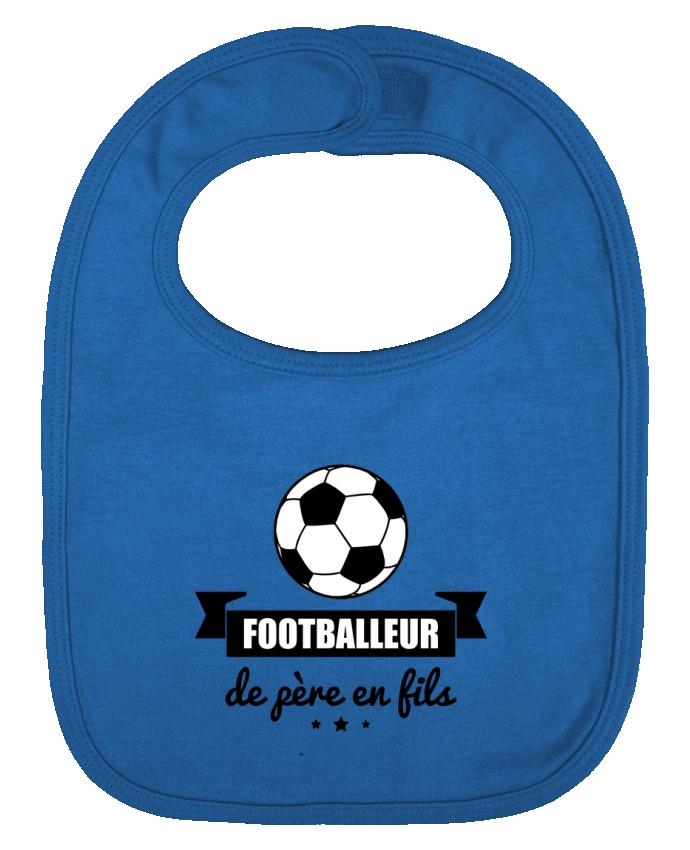 Bavoir bébé uni Footballeur de père en fils, foot, football par Benichan