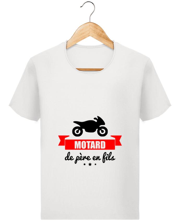 T-shirt Homme Stanley Imagines Vintage Motard de père en fils, moto, motard par Benichan
