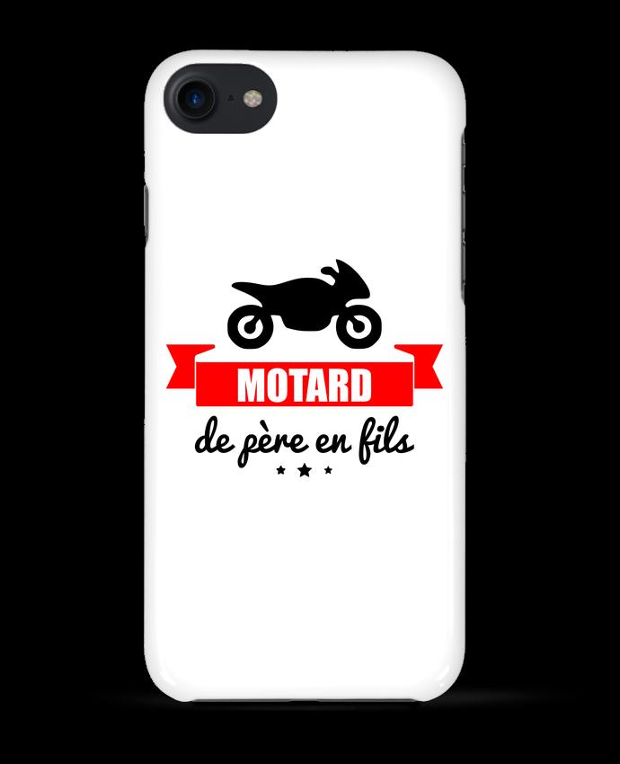 Coque 3D Iphone 7 Motard de père en fils, moto, motard de Benichan