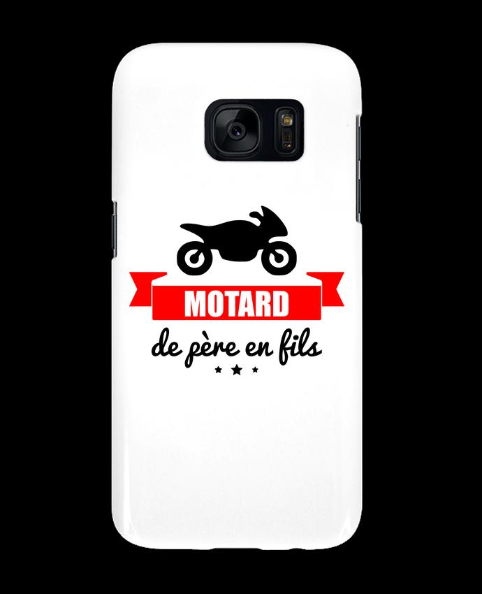 Coque 3D Samsung Galaxy S7 Motard de père en fils, moto, motard par Benichan