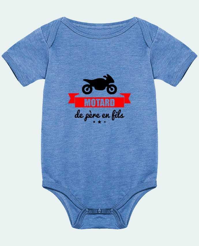 Body Bébé Motard de père en fils, moto, motard par Benichan