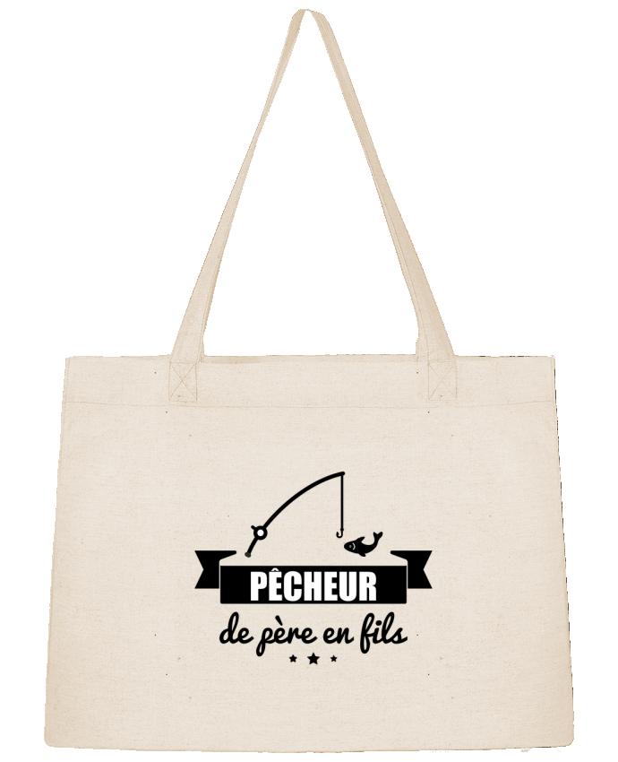 Sac Cabas Shopping Stanley Stella Pêcheur de père en fils, pêcheur, pêche par Benichan
