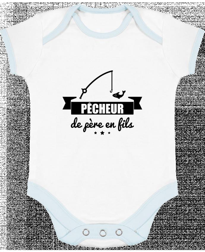 Body Bébé Contrasté Pêcheur de père en fils, pêcheur, pêche par Benichan
