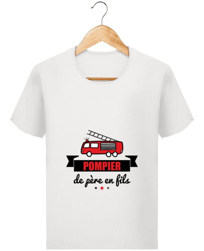 T-shirt Homme Stanley Imagines Vintage Pompier de père en fils, pompier par Benichan