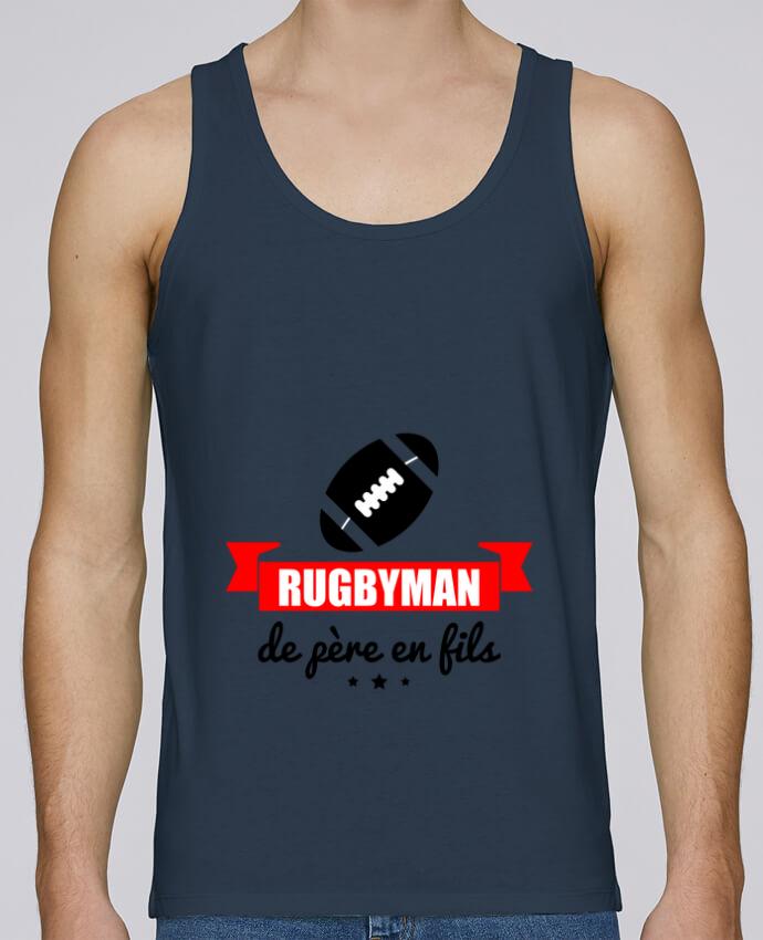 Débardeur Bio Homme Stanley Runs Rugbyman de père en fils, rugby, rugbyman par Benichan 100% coton bio