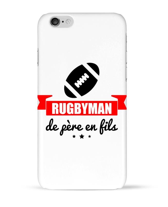 Coque 3D Iphone 6 Rugbyman de père en fils, rugby, rugbyman par Benichan
