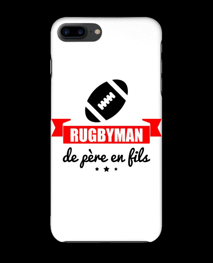 4320024 coque 3d iphone 7 blanc rugbyman de pere en fils rugby rugbyman by benichan