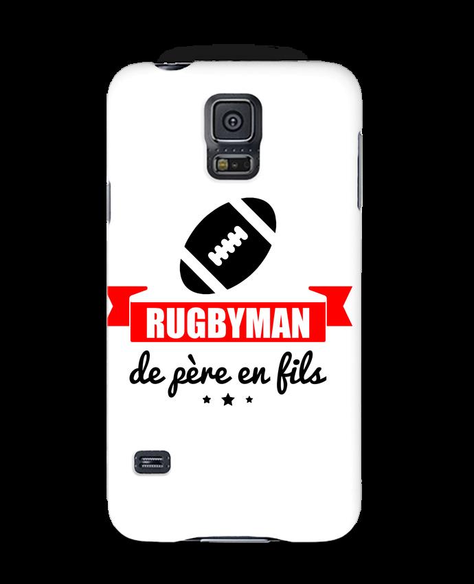 Coque 3D Samsung Galaxy S5 Rugbyman de père en fils, rugby, rugbyman par Benichan