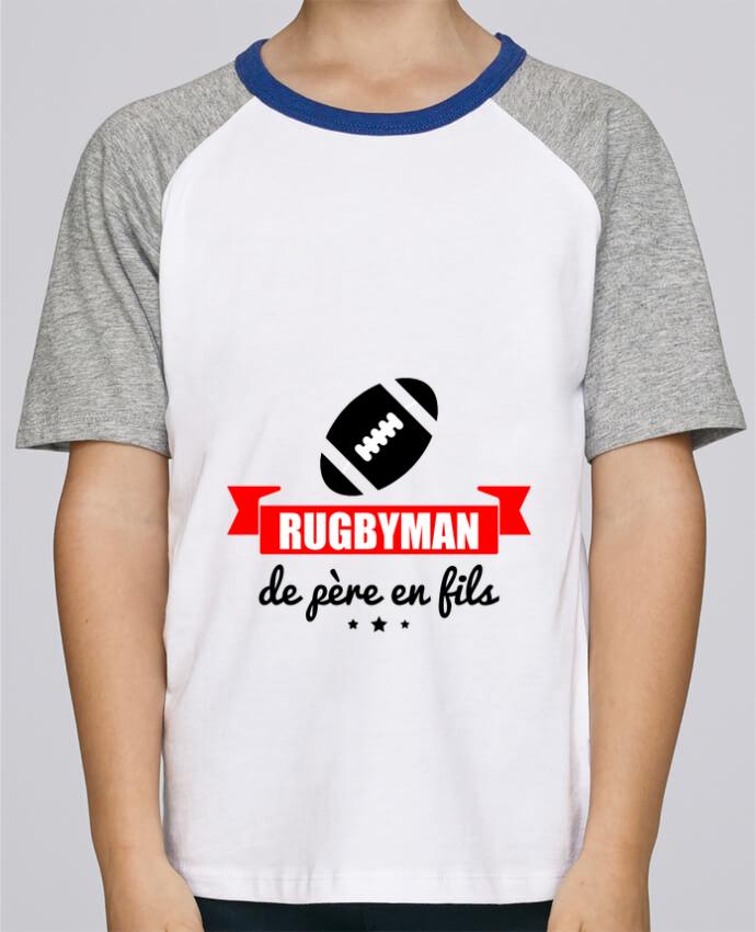 Tee Shirt Enfant Stanley Mini Jump Short Sleeve Rugbyman De Père En Fils Rugby Rugbyman Par Benichan