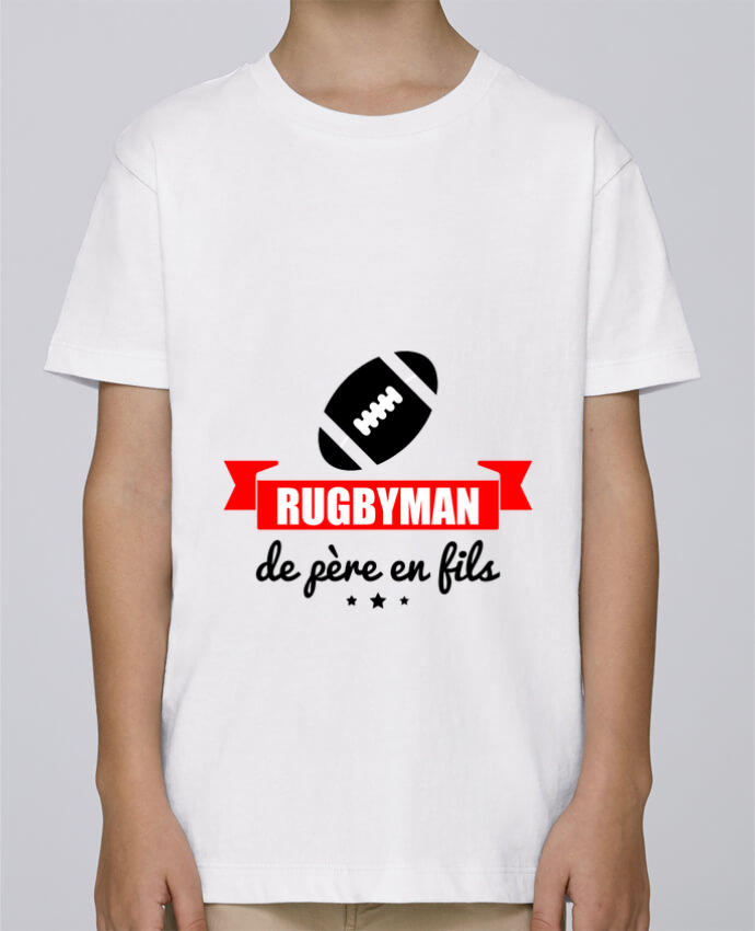 Tee Shirt Garçon Stanley Mini Paint Rugbyman de père en fils, rugby, rugbyman par Benichan