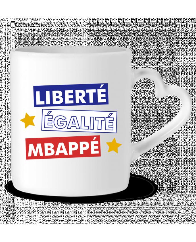Mug coeur Equipe de France MBappé par tunetoo