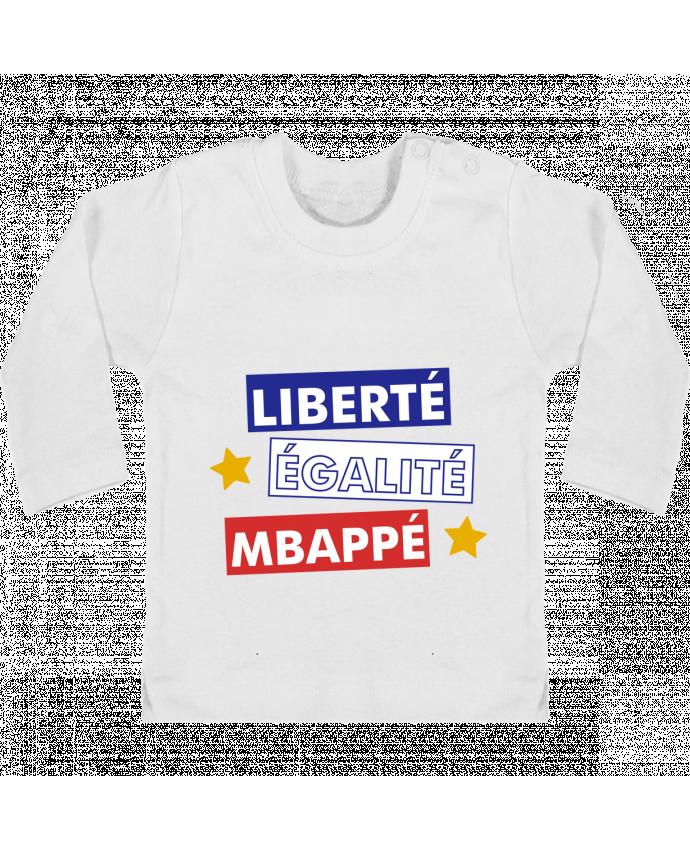 T-shirt Bébé Manches Longues Boutons Pression Equipe de France MBappé manches longues du designer tunetoo