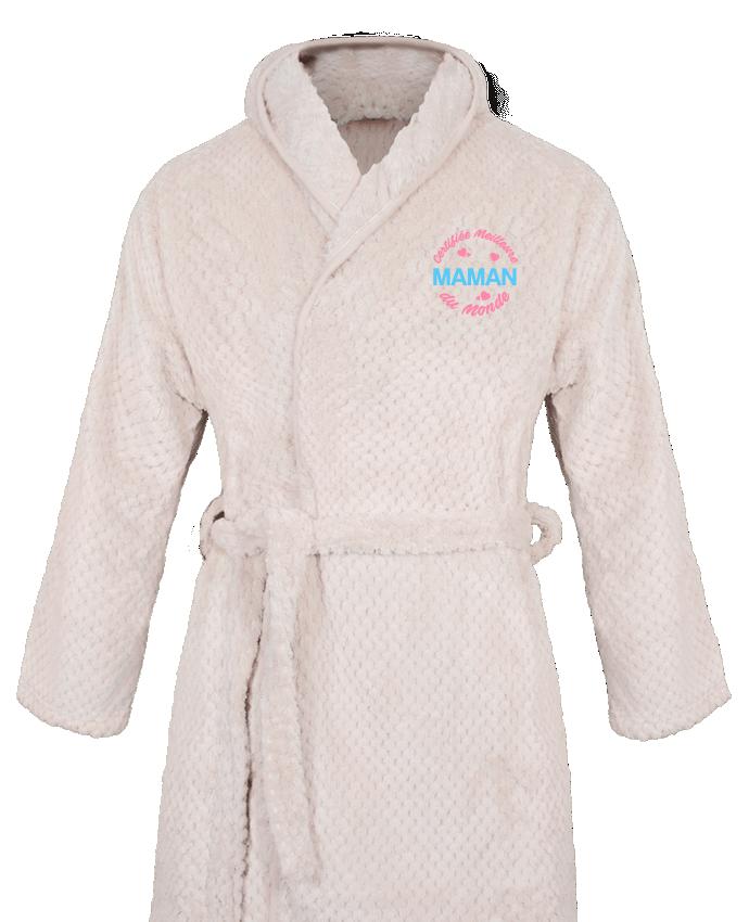 Peignoir Femme Soft Coral Fleece Certifiée meilleure maman du monde par tunetoo