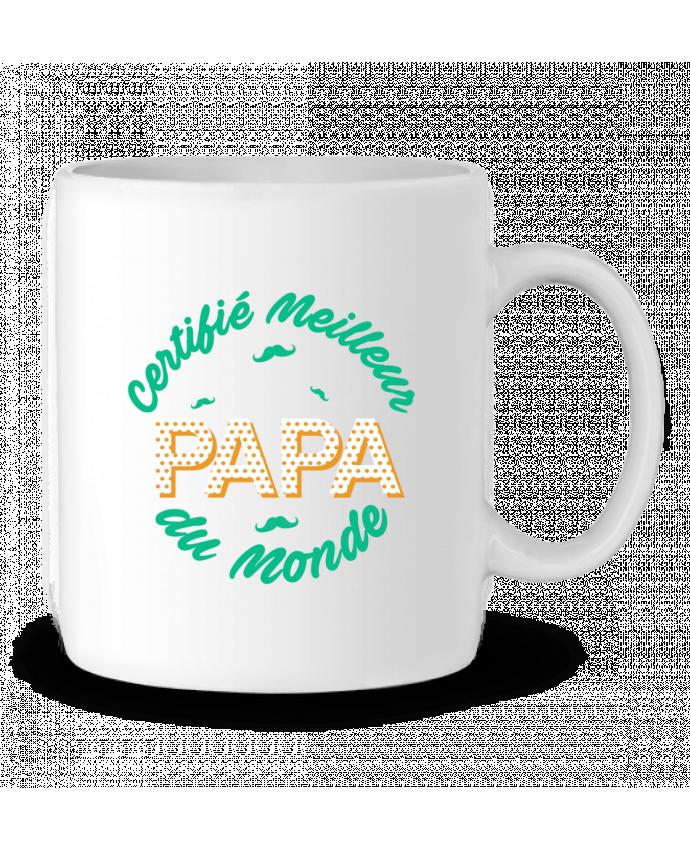 Mug en Céramique Certifié meilleur papa du monde par tunetoo