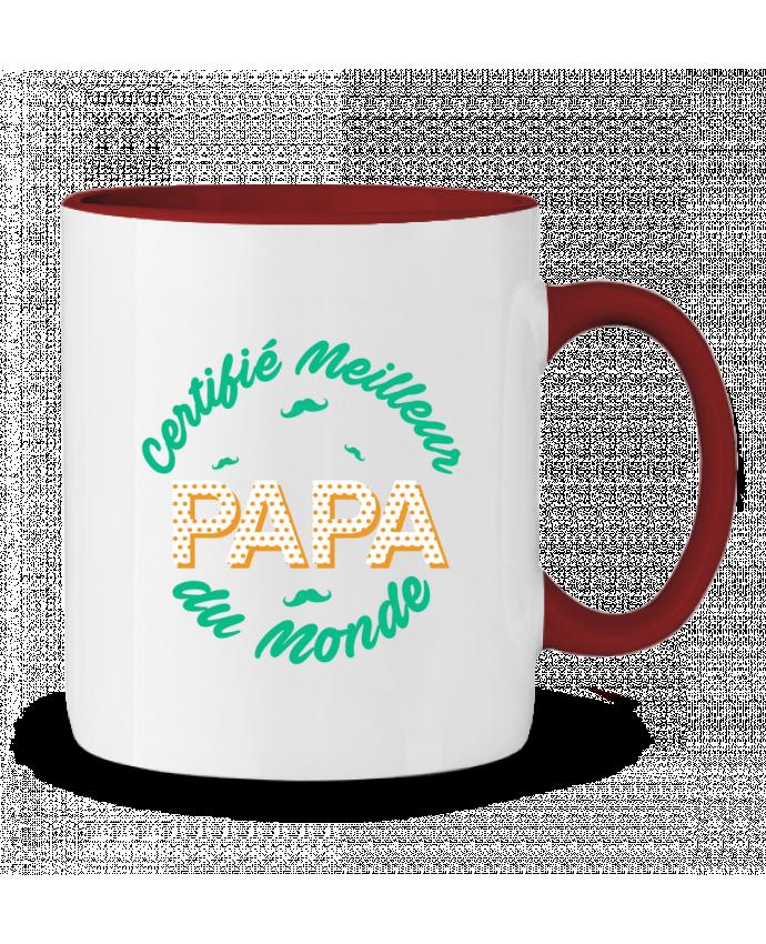 Mug en Céramique Bicolore Certifié meilleur papa du monde tunetoo
