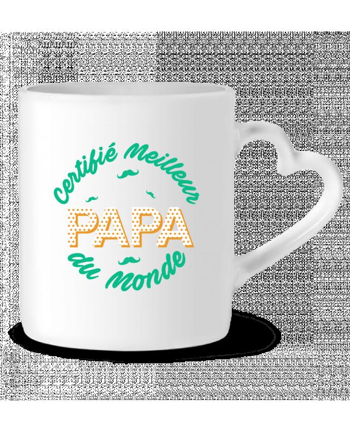 Mug coeur Certifié meilleur papa du monde par tunetoo