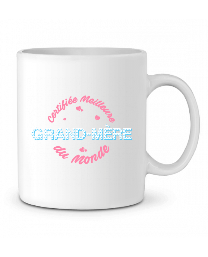 Mug en Céramique Certifiée meilleure grand-mère du monde par tunetoo