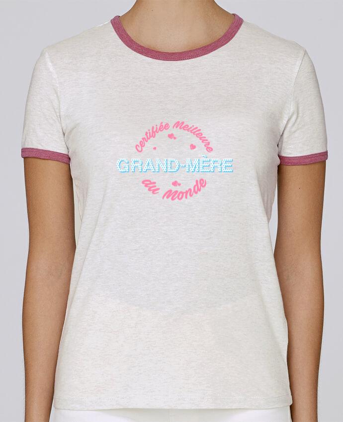T-shirt Femme Stella Returns Certifiée meilleure grand-mère du monde pour femme par tunetoo