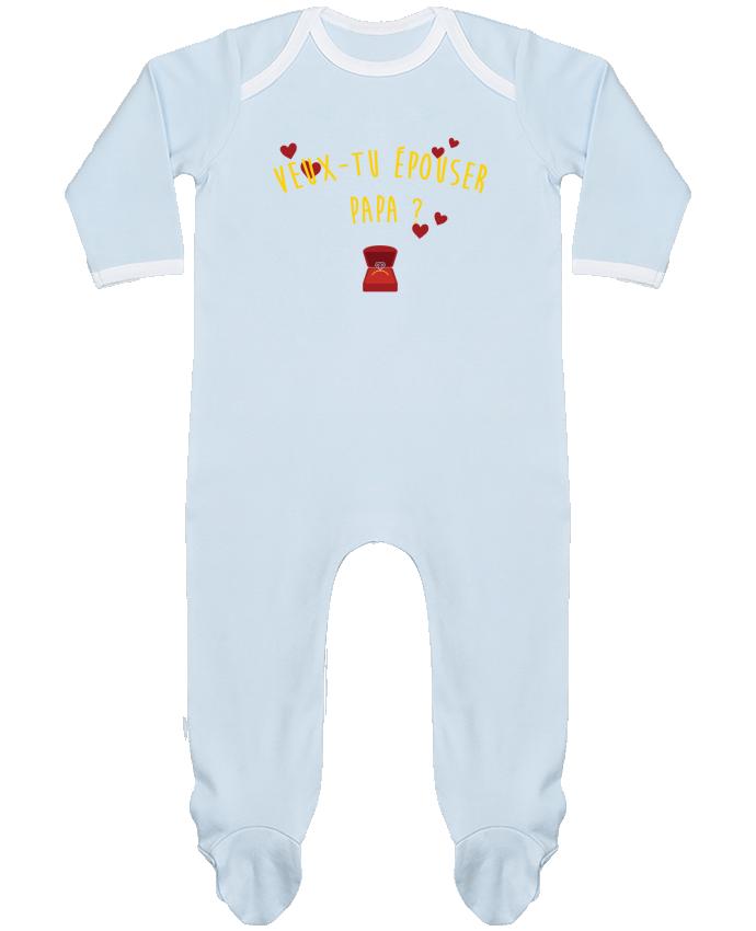 Pyjama Bébé Manches Longues Contrasté Veux-tu épouser papa ? par tunetoo