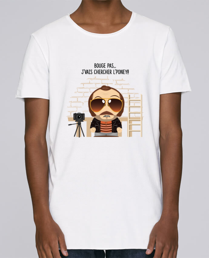T-shirt Homme Oversized Stanley Skates Claudy Focan et le Poney par PTIT MYTHO