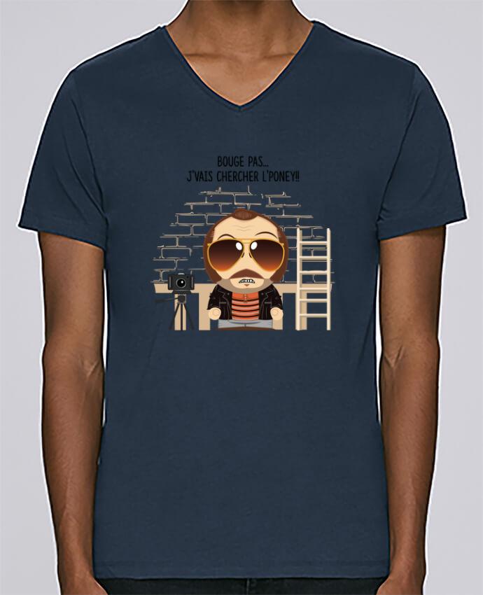 T-shirt Col V Homme Stanley Relaxes Claudy Focan et le Poney par PTIT MYTHO