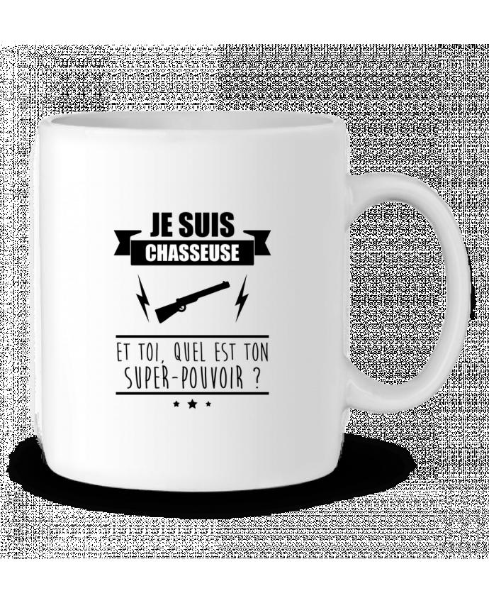 Mug en Céramique Je suis chasseuse et toi, quel est ton super-pouvoir ? par Benichan