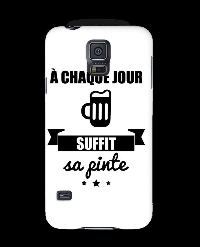 Coque 3D Samsung Galaxy S5 À chaque jour suffit sa pinte, bière, apéro, alcool par Benichan