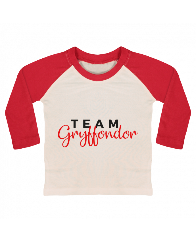 Tee-shirt Bébé Baseball ML Team Gryffondor par Nana