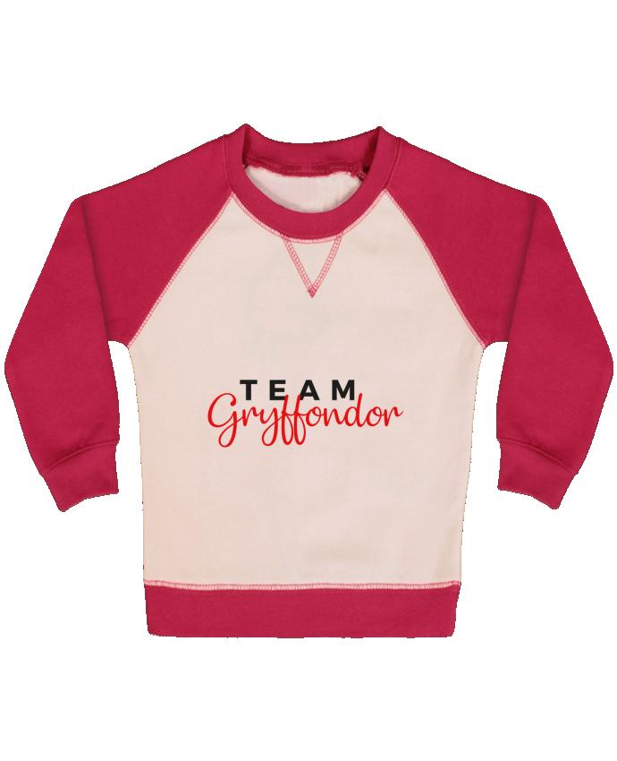 Sweat Shirt Bébé Col Rond Manches Raglan Contrastées Team Gryffondor par Nana