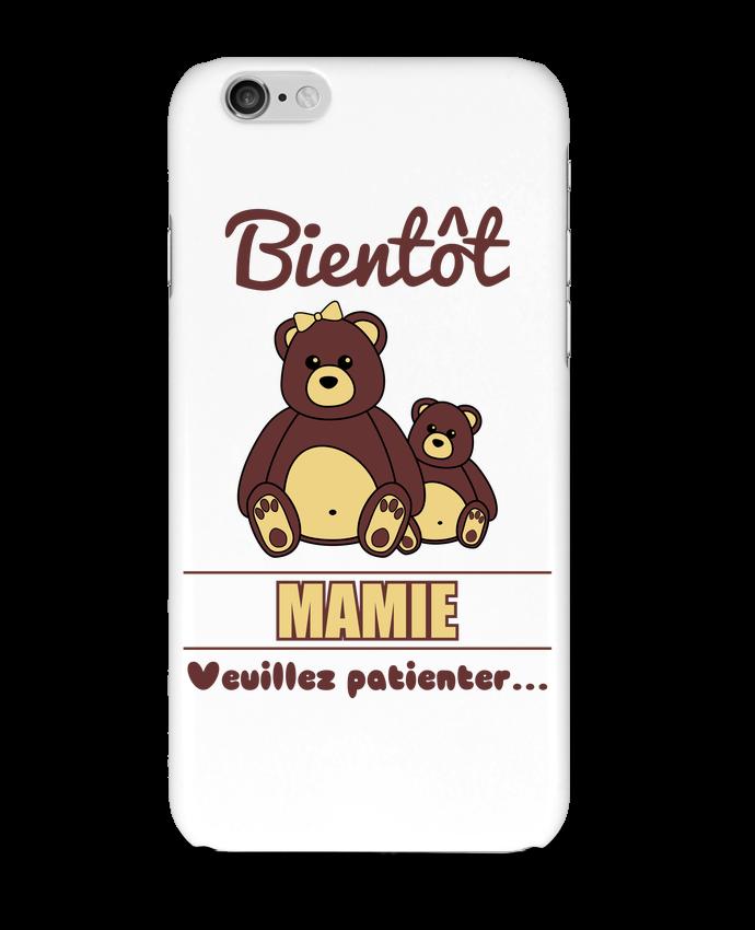Coque 3D Iphone 6 Bientôt Mamie, future grand-mère, ourson, famille, grossesse par Benichan