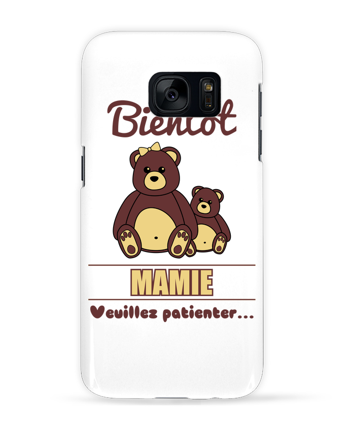 Coque 3D Samsung Galaxy S7 Bientôt Mamie, future grand-mère, ourson, famille, grossesse par Benicha