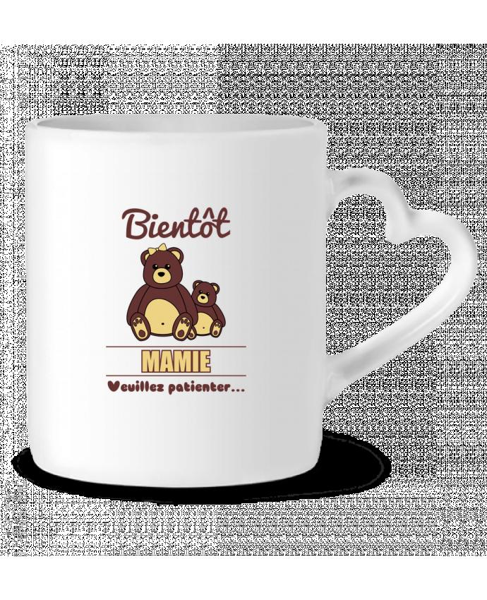 Mug Coeur Bientôt Mamie, future grand-mère, ourson, famille, grossesse par Benichan